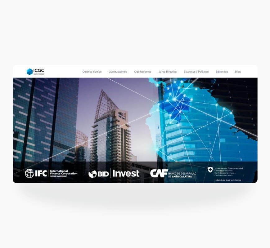 desarrollo página web icgc